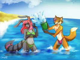 : Splash Fight: by GaruryKai