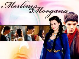 Merlin and Morgana by OrlaDark