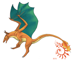 Realistic Charizard by aireona93