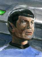 Spock ACEO Sketch Card by Stungeon