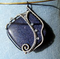 Starscape pendant by Adreanna