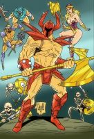 Death Adder and his troops by violencejack666