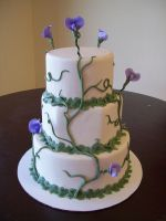 Sweet pea wedding cake by see-through-silence