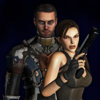 Lara Croft and Isaac Clarke by toughraid3r37890