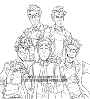 Jack Attack Lineart by ZombiDJ