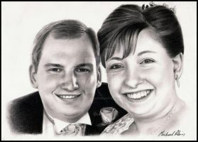 Wedding Couple by MikeRobinsArt