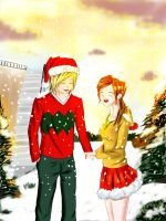 Ryoma and harlie christmas love by ivan1426
