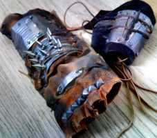 Raiders Gauntlet and Bracer by heartofcinder