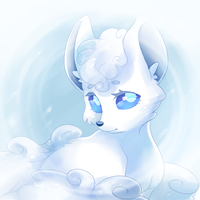 Snow fox by Ivory-Luxray