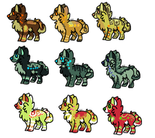 Adoptables 7 // CLOSED by SickAede