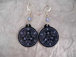 Fullmetal Alchemist Equivalent Exchange Earrings by AriesNamarie