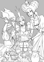 Alice, this is Pudding. Pudding, Alice! by pearsfears
