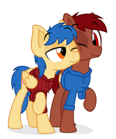 Commission: Equalizer and Penn by ZuTheSkunk