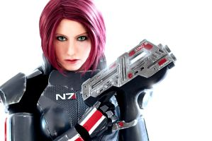 Commander Shepard: We fight or we die by LittleBlondeGoth