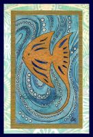 Gold Fish Card by Caelitha