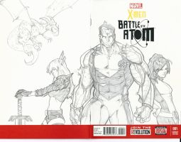 Xmen Sketch Cover Colossus Kitty Pryde Illyana by BrianVander