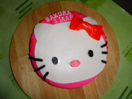 cake hello kitty by WackoStarla
