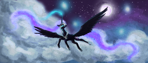 nightmare moon by banananamilk