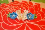 Butterfly Kanzashi Commission by myloko