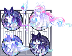 Kitsunet Mystical Winter Adoptables(SOLD!) by Miizue