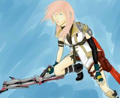 Fighting Fate-Lightning by Ignis-Phoenix