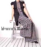 Black White Checked Jumpsuit13 by yystudio