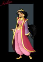 princess jasmine  -  with coat by nightwing1975