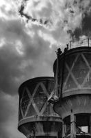 Old Water Towers 3 by Swamp-talker