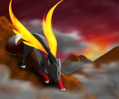 .:Gift:. With red fire and black smoke by SweetElectricity