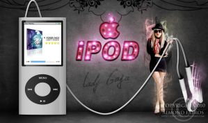 Lady Gaga iPOD by C0NFUZZLE