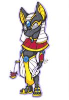 Chibi Egyptian Gods: Anubis by Margolo-Blu