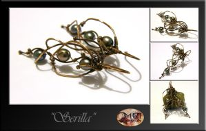 Serilla- wire wrapped earrings by mea00