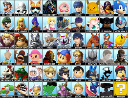 Super Smash Bros 4 Dream Roster Alternate Costumes by Lucas-Zero