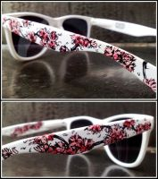 Cherry Blossom on Glasses by Gohush