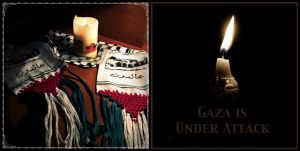 Candle For Gaza by Quadraro