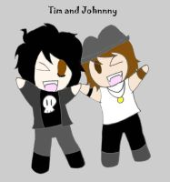 Tim and Johnny by spike-the-cat