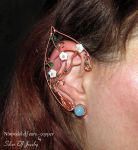 Nimrodel elf ears - copper by Lyriel-MoonShadow
