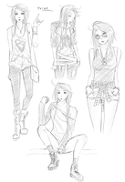 Clothes Sketches by seyuri