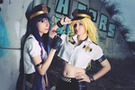 Cop sisters - Panty and Stocking cosplay by XiXiXion