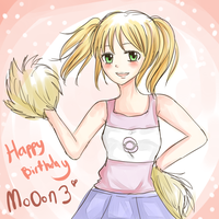 Happy Birthday Mo0on3 by miyamiyah