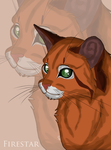 Firestar Headshot by xXKaWaii-RuKiaXx