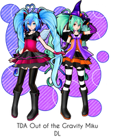 [640 Watchers Gift] -TDA Heart of Gravity Miku DL- by ChocoFudge98