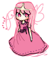 Princess bubblegum. by Moobearpig
