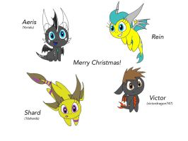 Have a chibi Christmas! by PolarBearLivii