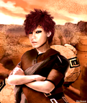 Gaara in the sunset by Shibuz4