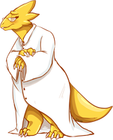Alphys by MystikMeep