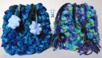 RH Wildflower Macaw Croc Scale Crocheted Bags Part by DreamerNekoInu