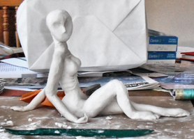 Mother Mars WIP Sculpture by fokkusu1991