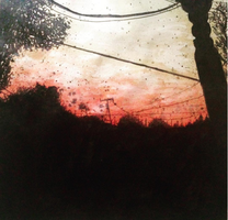 Sunset watercolor by lovelymeows