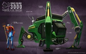 Space Colony 3000 - Farmpro X130 Tractor by freakyfir